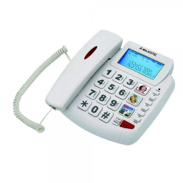 Majestic billy 200 telefono fisso senior a filo con grande display