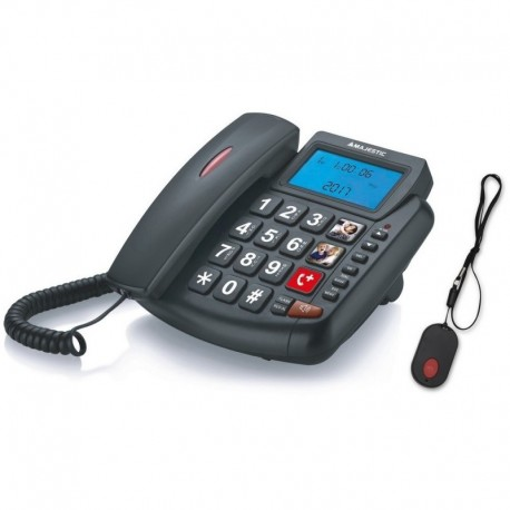 Majestic phf-billy 204 sos telefono a filo con grande display