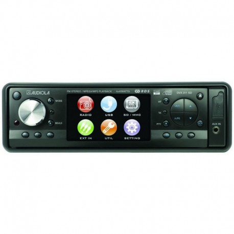 Audiola autoradio dvx311 usb e sd-mmc monitor 3' touch screen con telecomando