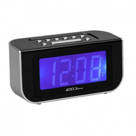 Audiola rsb0912 radio sveglia digitale allarme grande display lcd allarme snooze