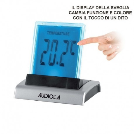 Audiola clb0620 sveglia da tavolo con allarme display lcd color