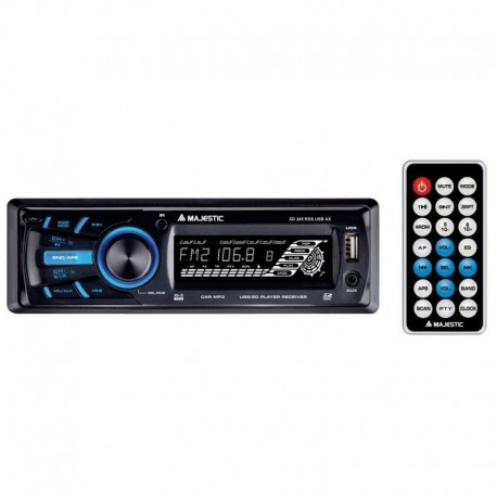 Majestic sd245 autoradio musica mp3 ingresso usb sd aux frontalino estraibile