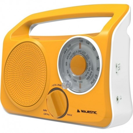 Majestic rt189 radio design vintage orange portatile presa cuffie